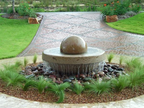 Fountains designed by oasis gardens for Garden oases pool entrance