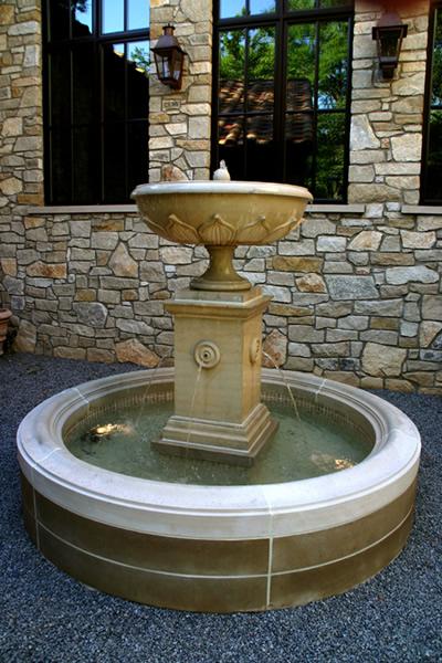 Oasis installed English fountain.